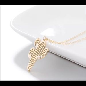 Jewelry - Gold Stainless steel cactus necklace